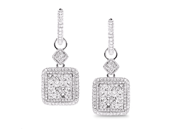 Diamond Dangle Earrings 11 500 00
